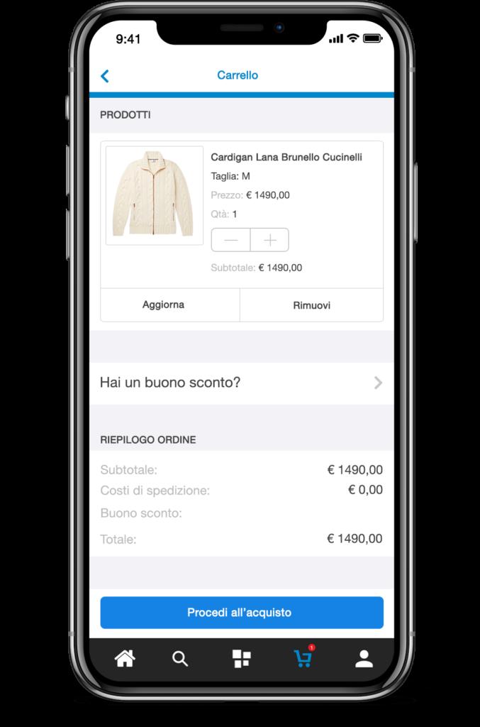 Carrello PrestaShop App
