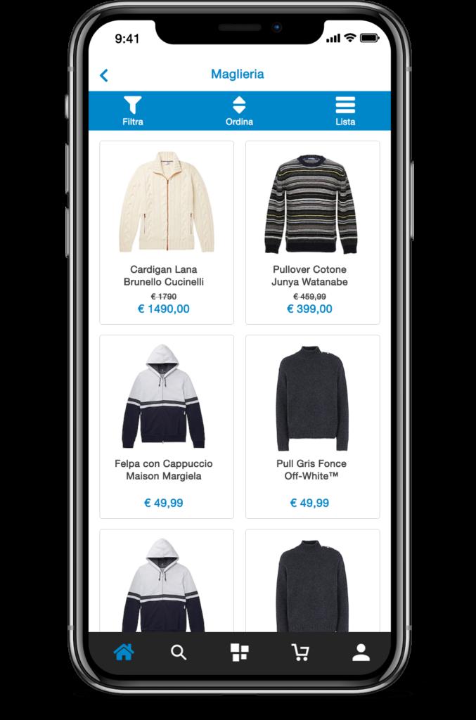 Pagina di Categoria PrestaShop App