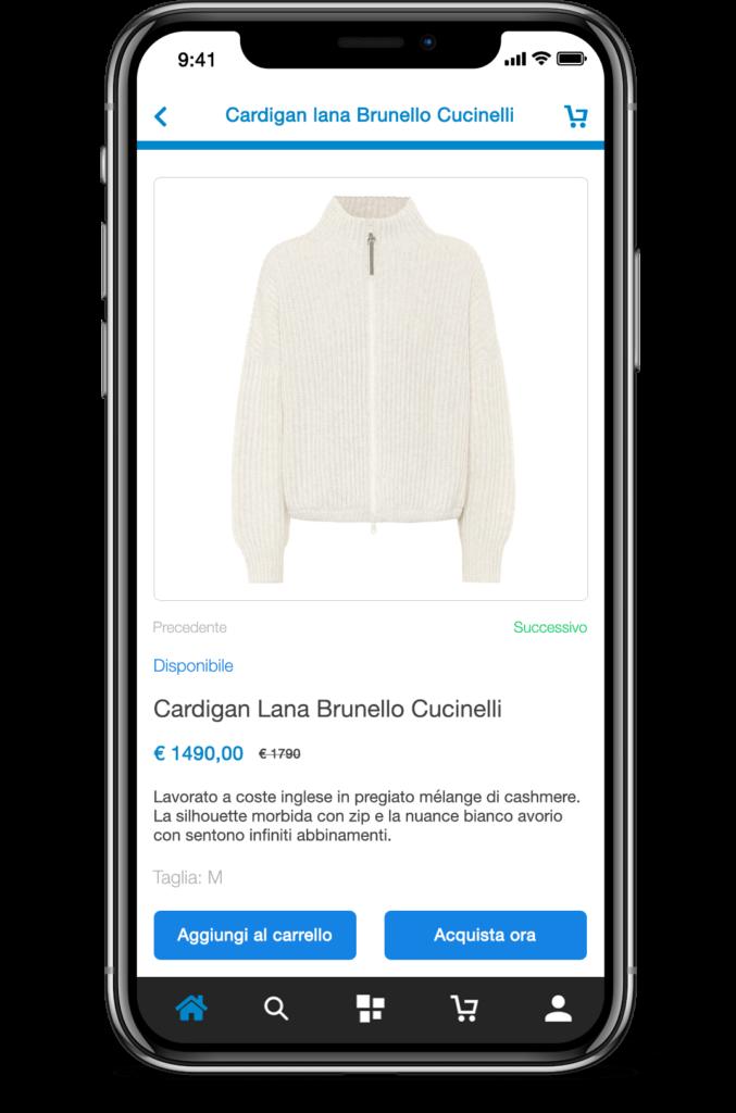 Pagina Prodotto PrestaShop App